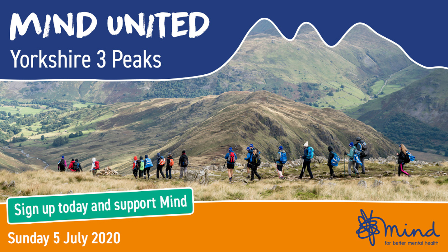 Join us for Mind United: Yorkshire 3 Peaks
