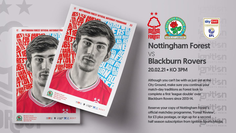 Order your programme for Blackburn clash!