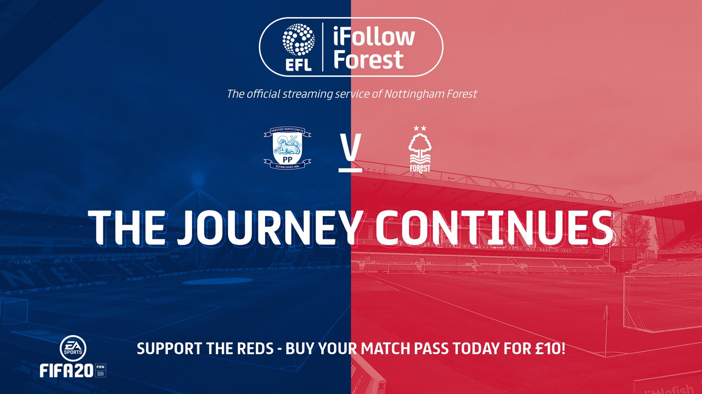 Watch Preston vs Forest live on iFollow Forest!