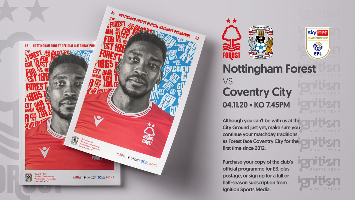 Order your programme for Coventry clash!