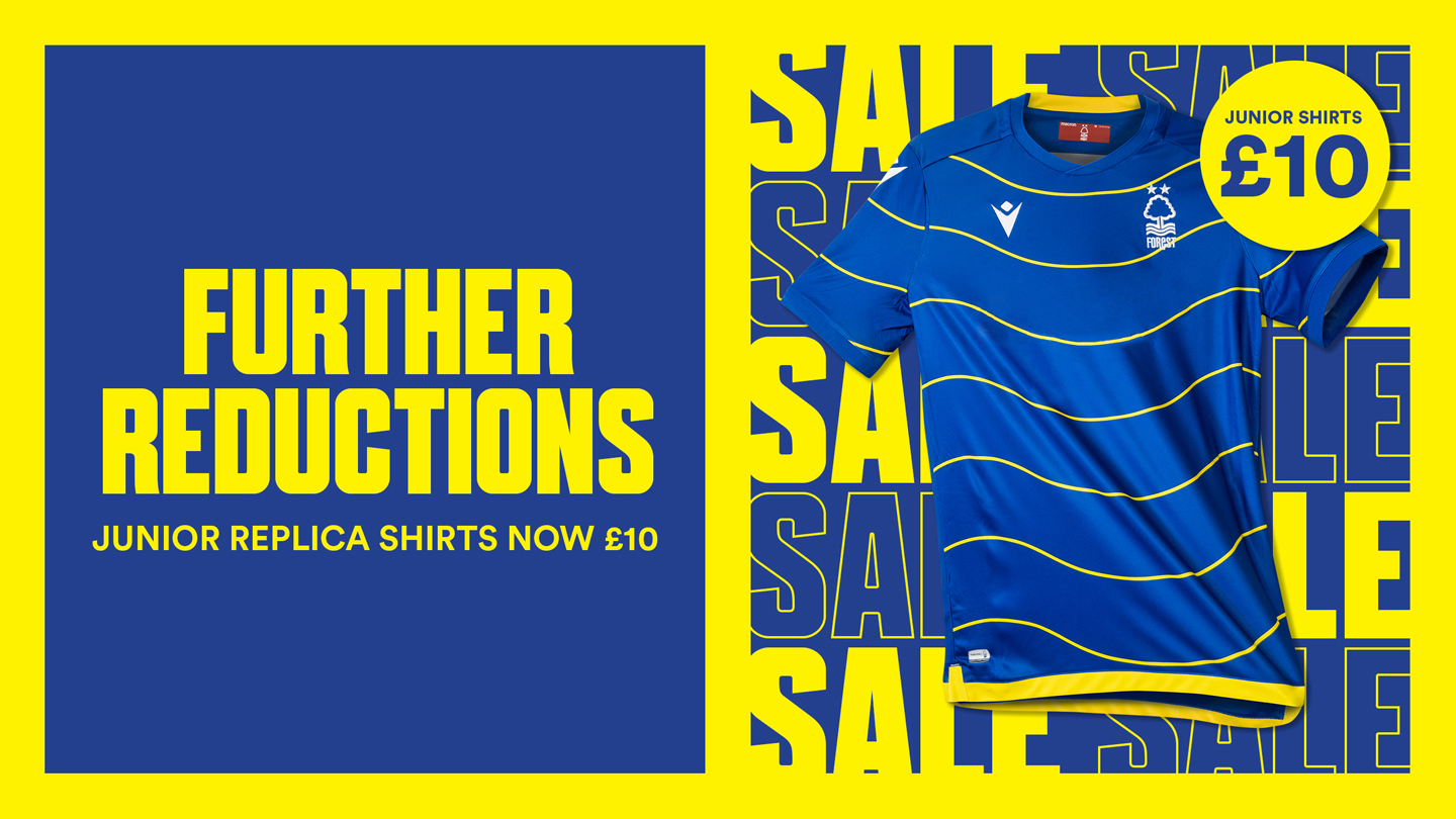 Junior replica shirts available for £10!