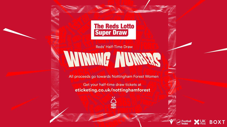 Luton half-time draw winners