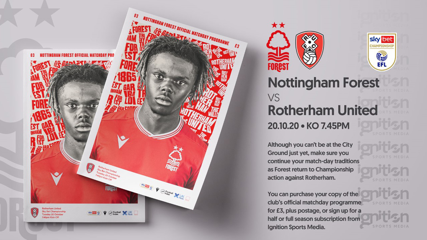 Order your programme for Rotherham clash!