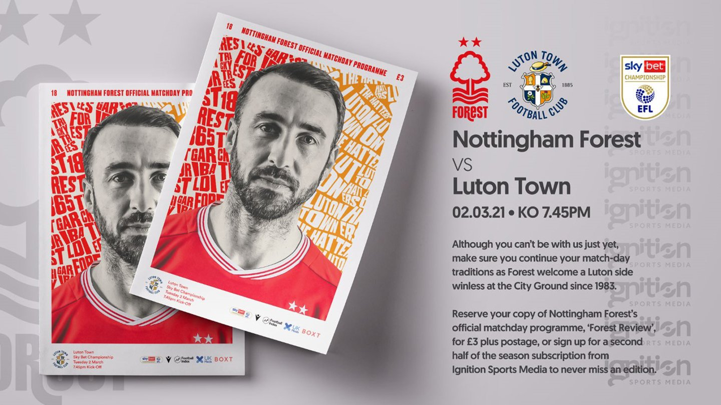 Order your programme for Luton clash!