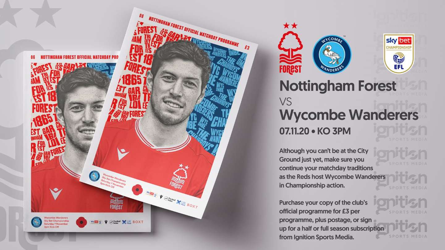 Order your programme for Wycombe clash!