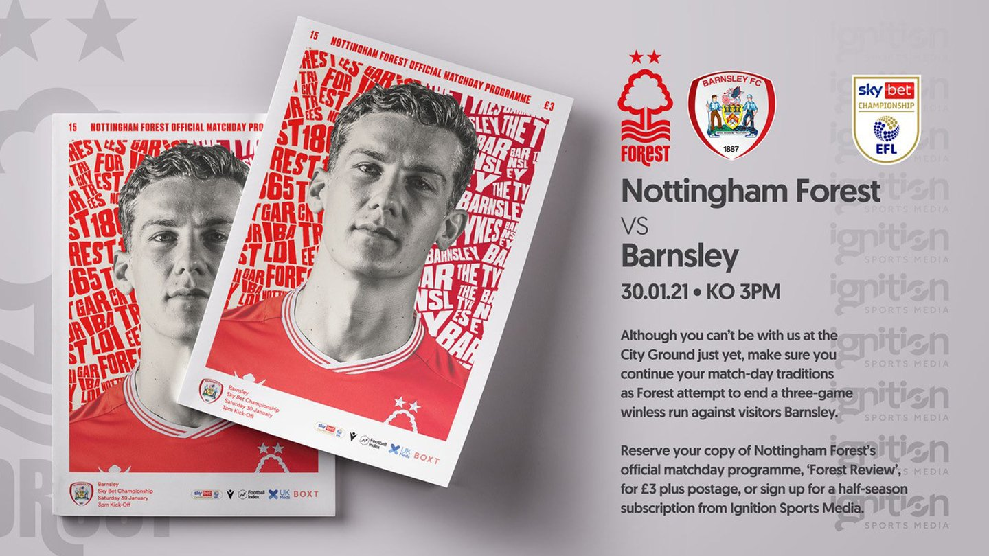 Order your programme for Barnsley clash!