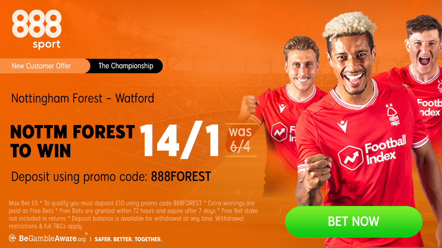 888sport betting preview: Forest to take sting out of Hornets' tail