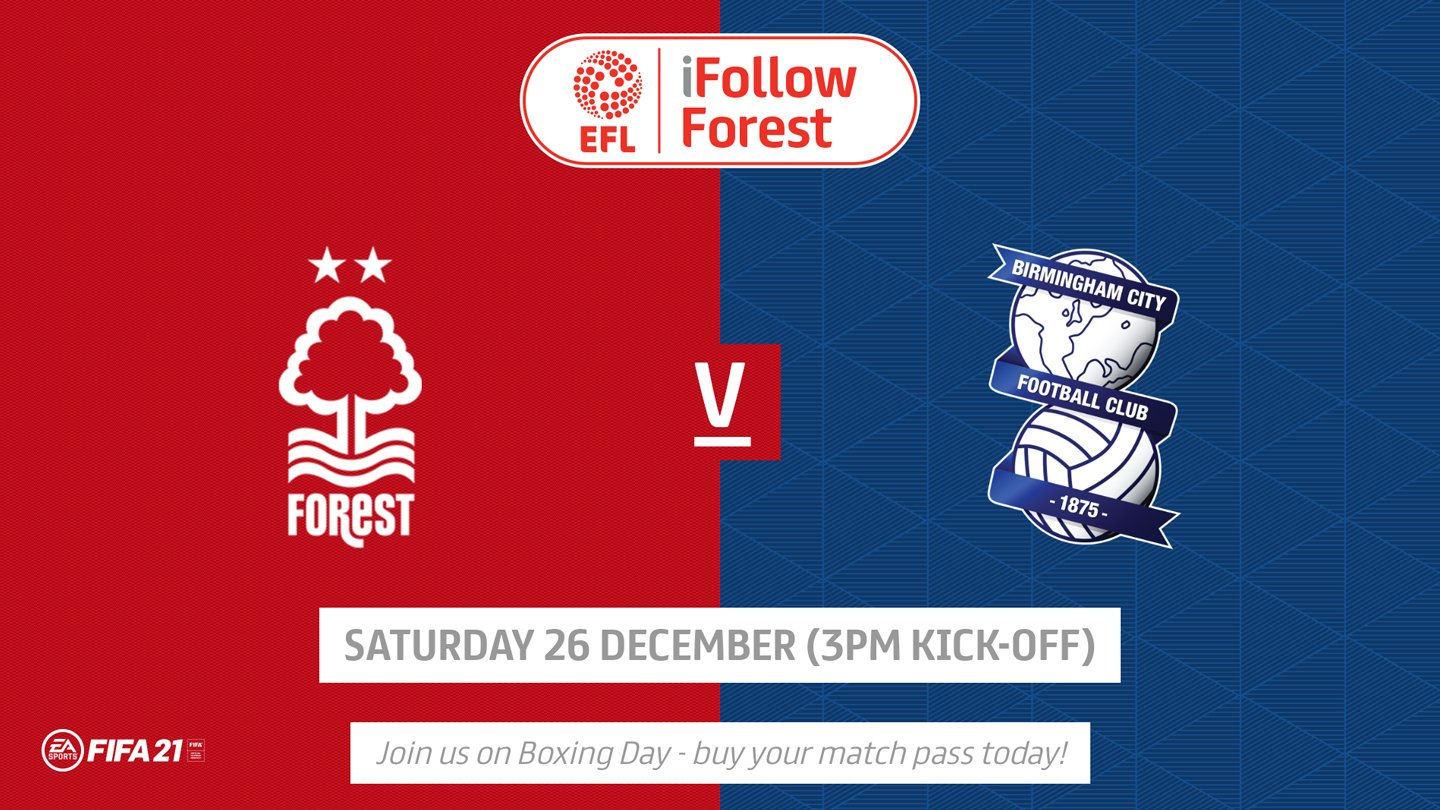 Watch Forest vs Birmingham live on iFollow!
