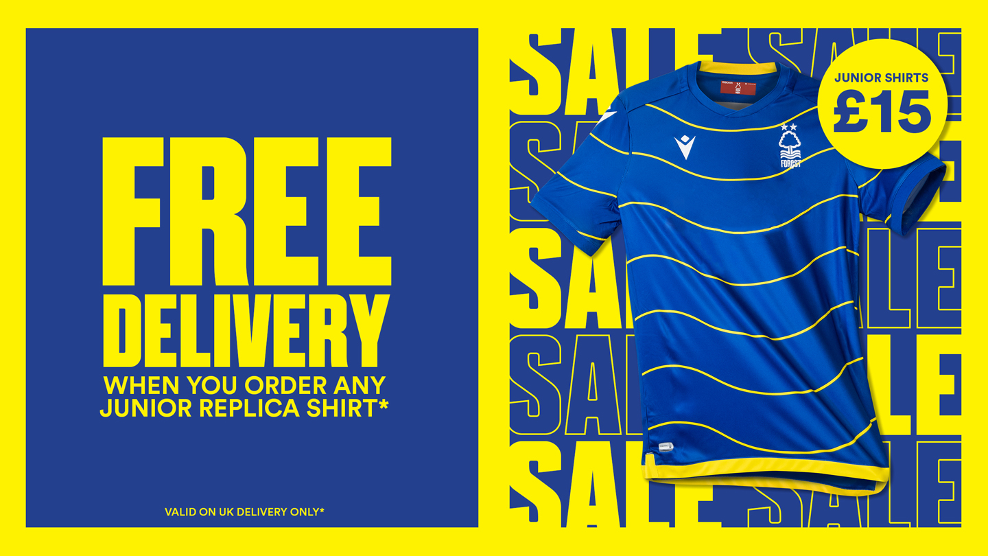 Free UK delivery with any junior replica shirt!