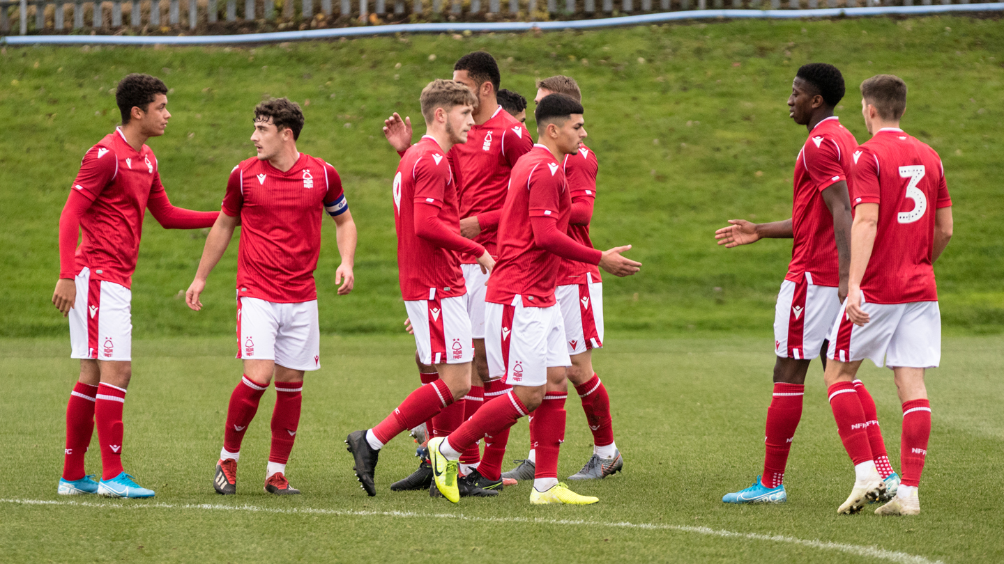 Under 23s in action at The City Ground on Tuesday