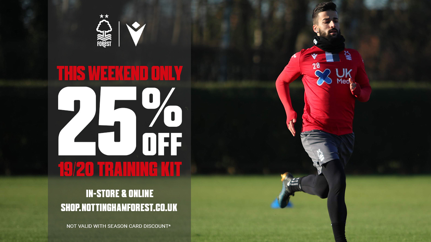 Get 25% off training kit this weekend!