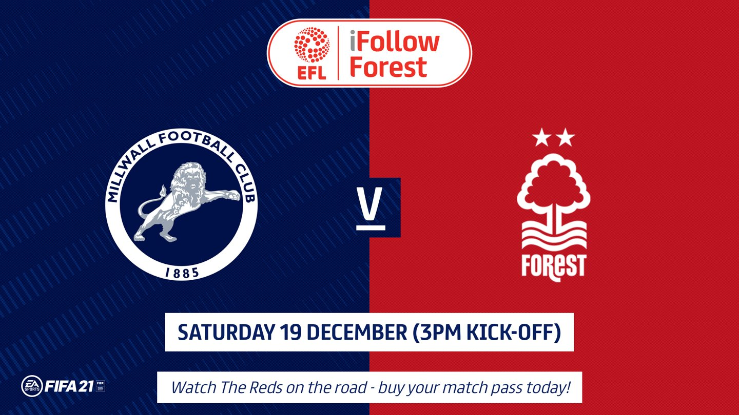 Watch Millwall vs Forest live on iFollow!