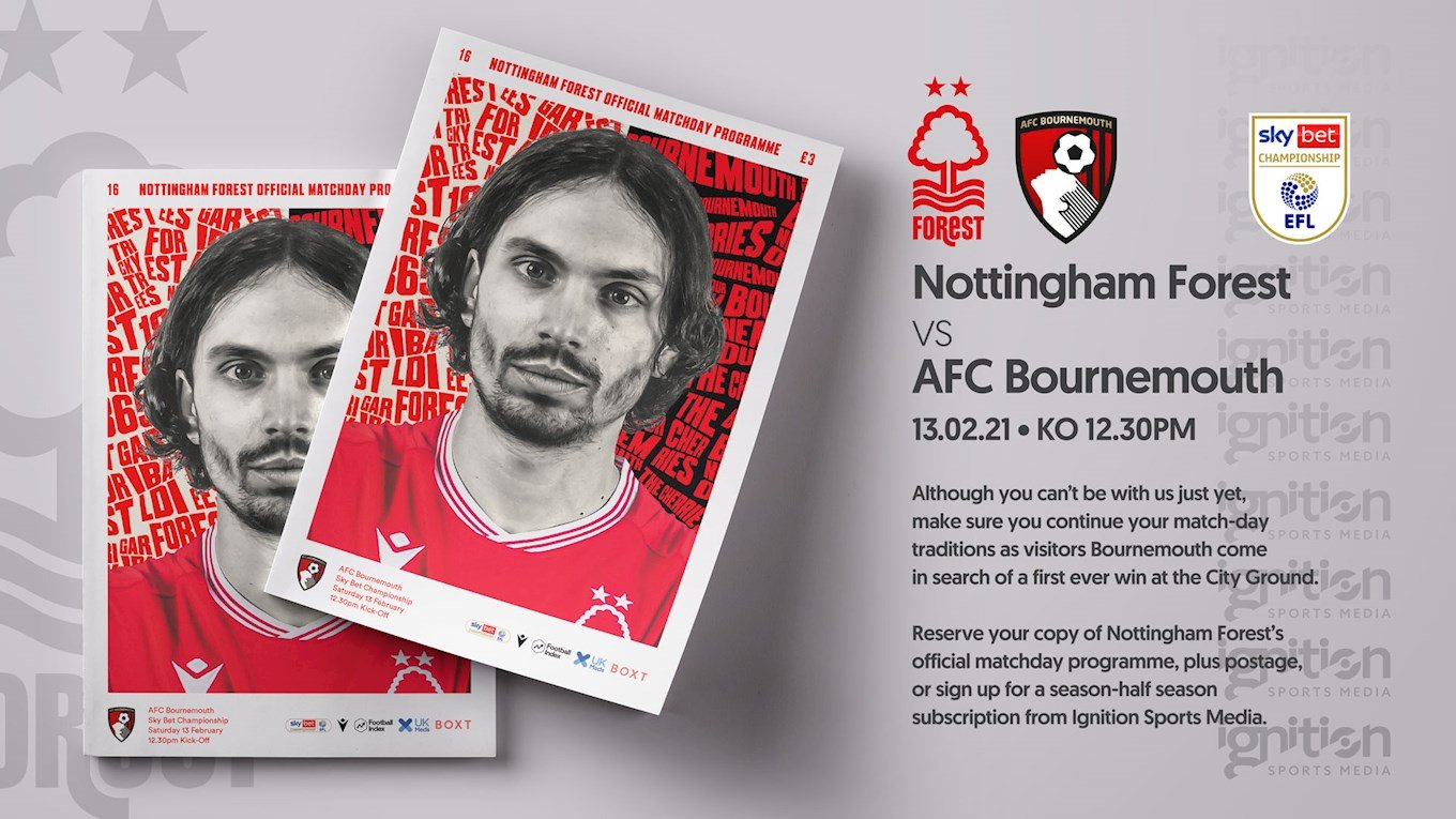 Order your programme for Bournemouth clash!