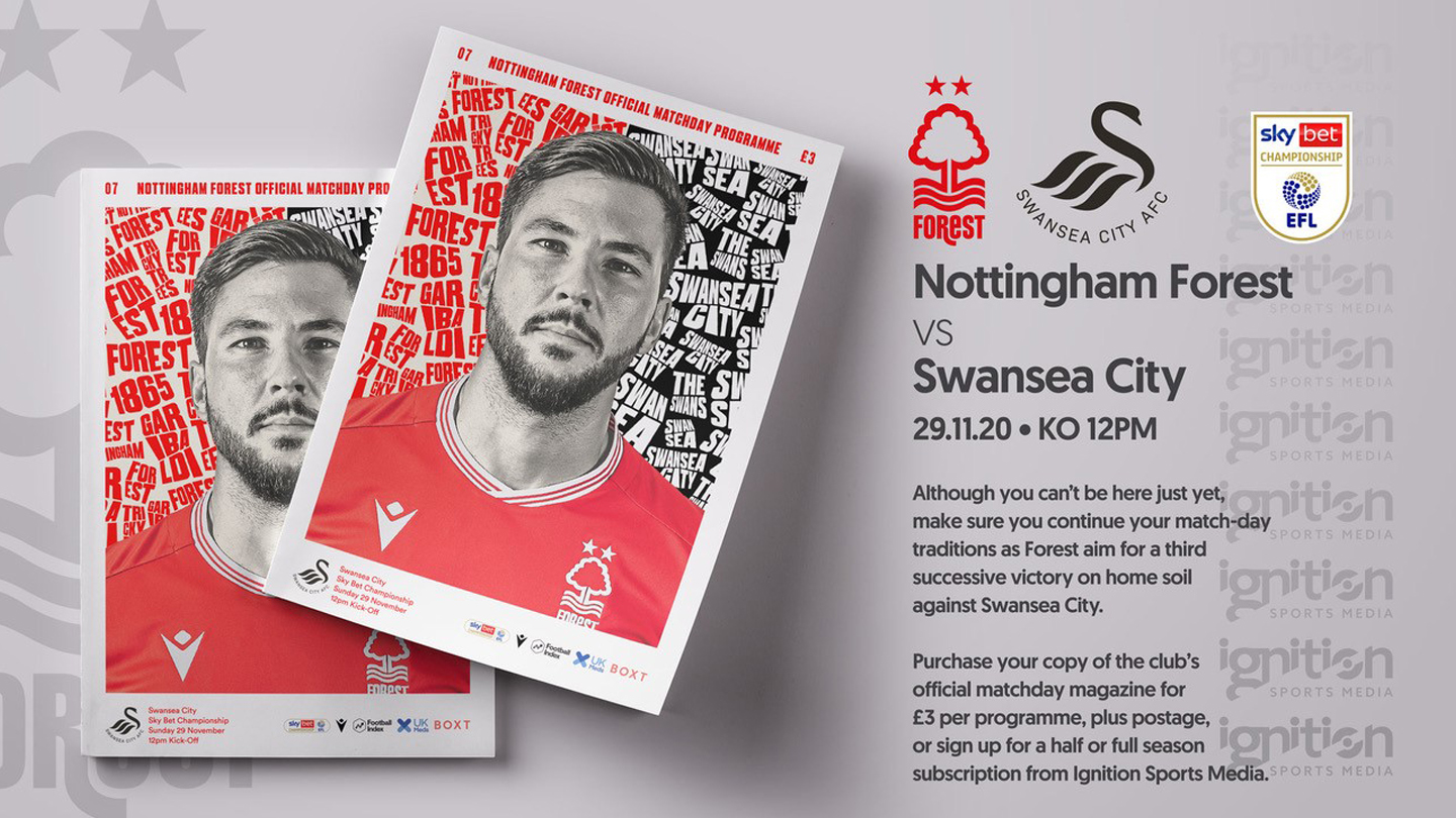 Order your programme for Swansea clash!
