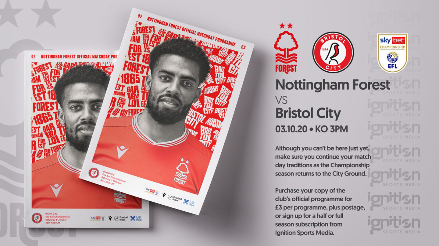 Order your programme for Bristol City clash!