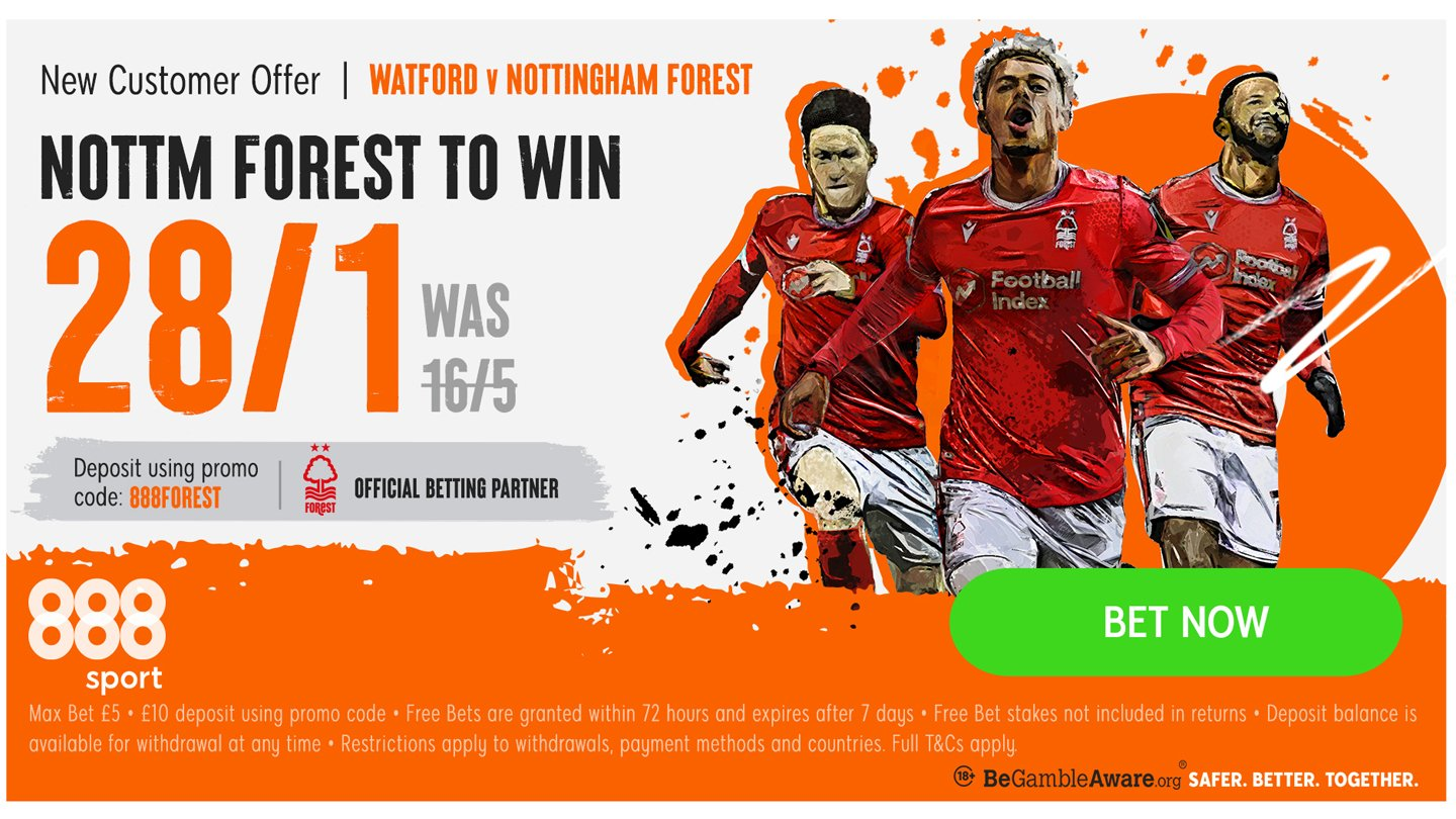 888sport betting preview: Forest to take sting out of Hornets