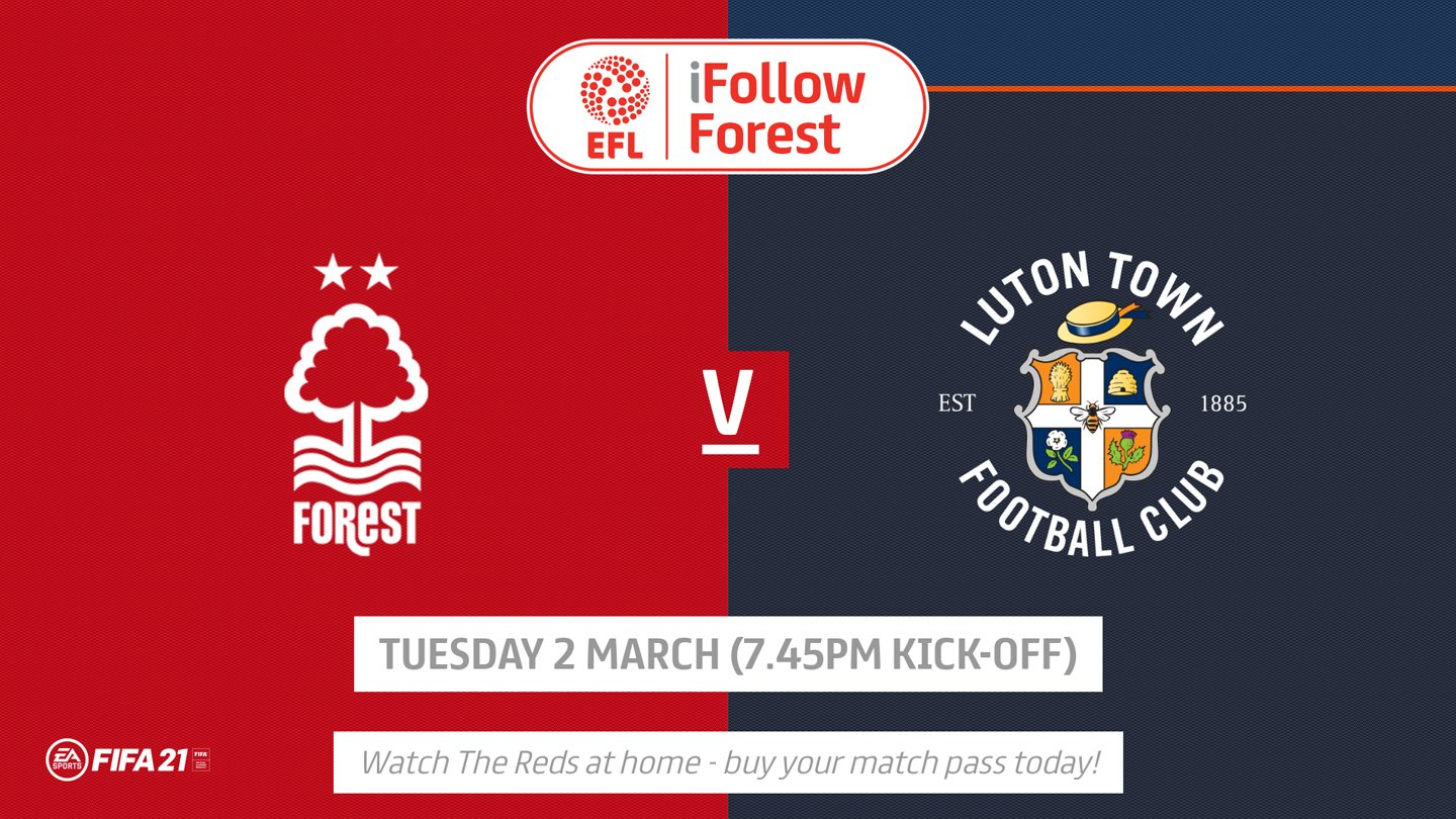 Watch Forest vs Luton live on iFollow!