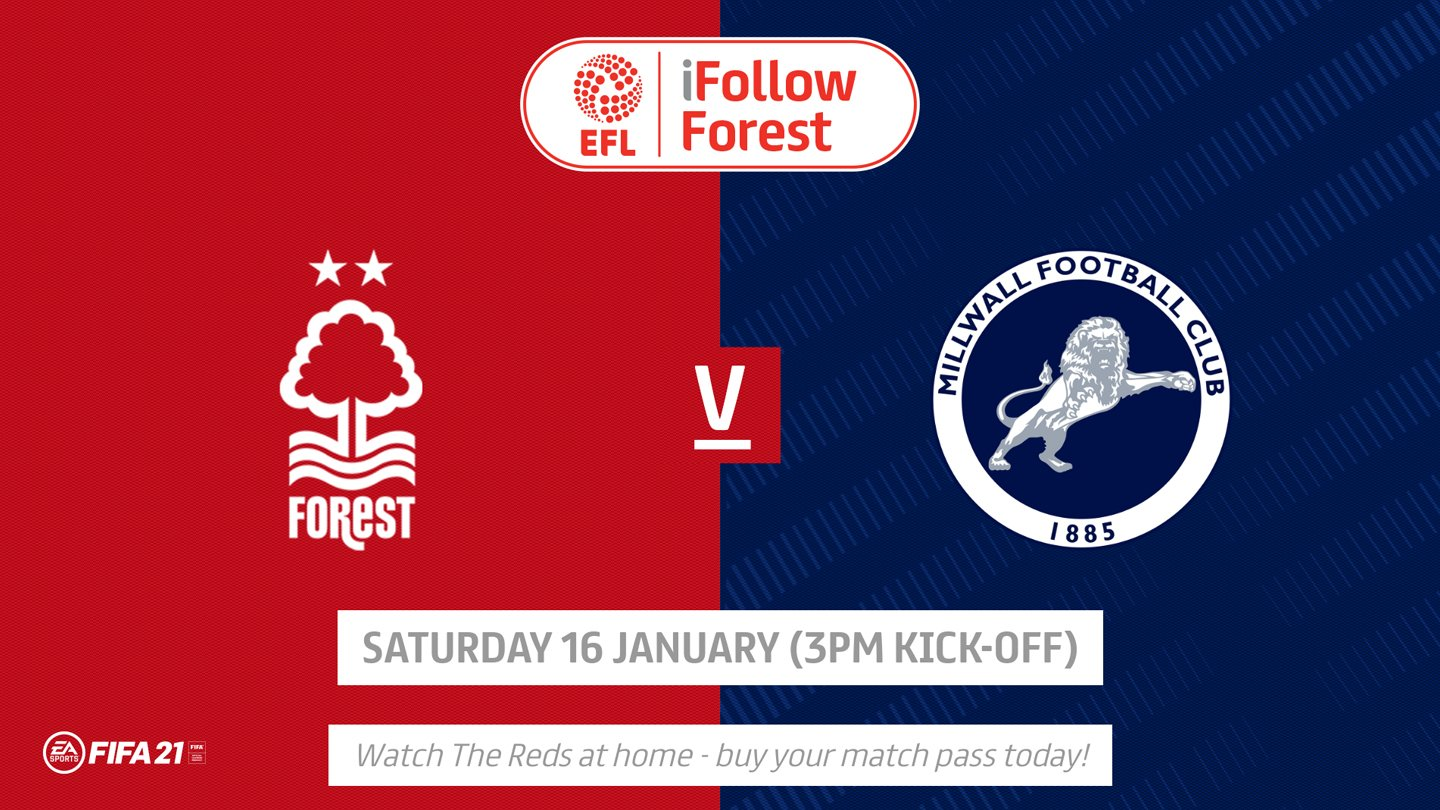 Watch Forest vs Millwall live on iFollow!