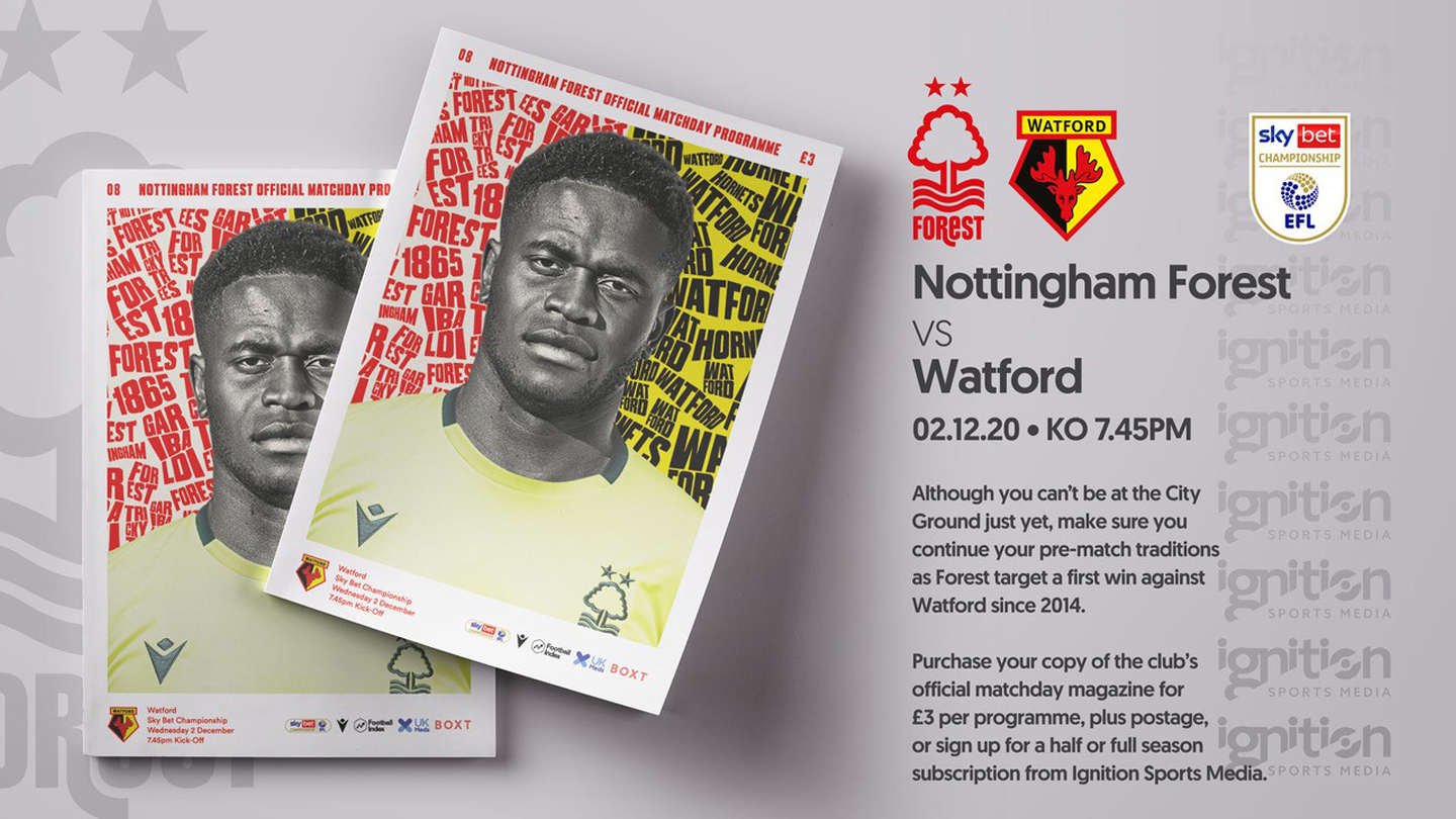 Order your programme for Watford clash!
