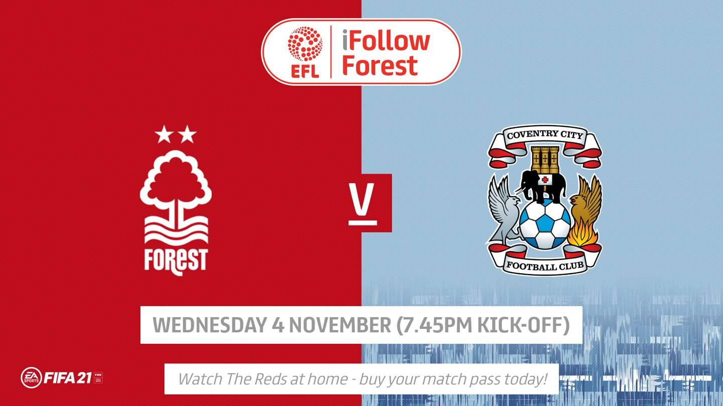 Watch Forest vs Coventry live on iFollow!