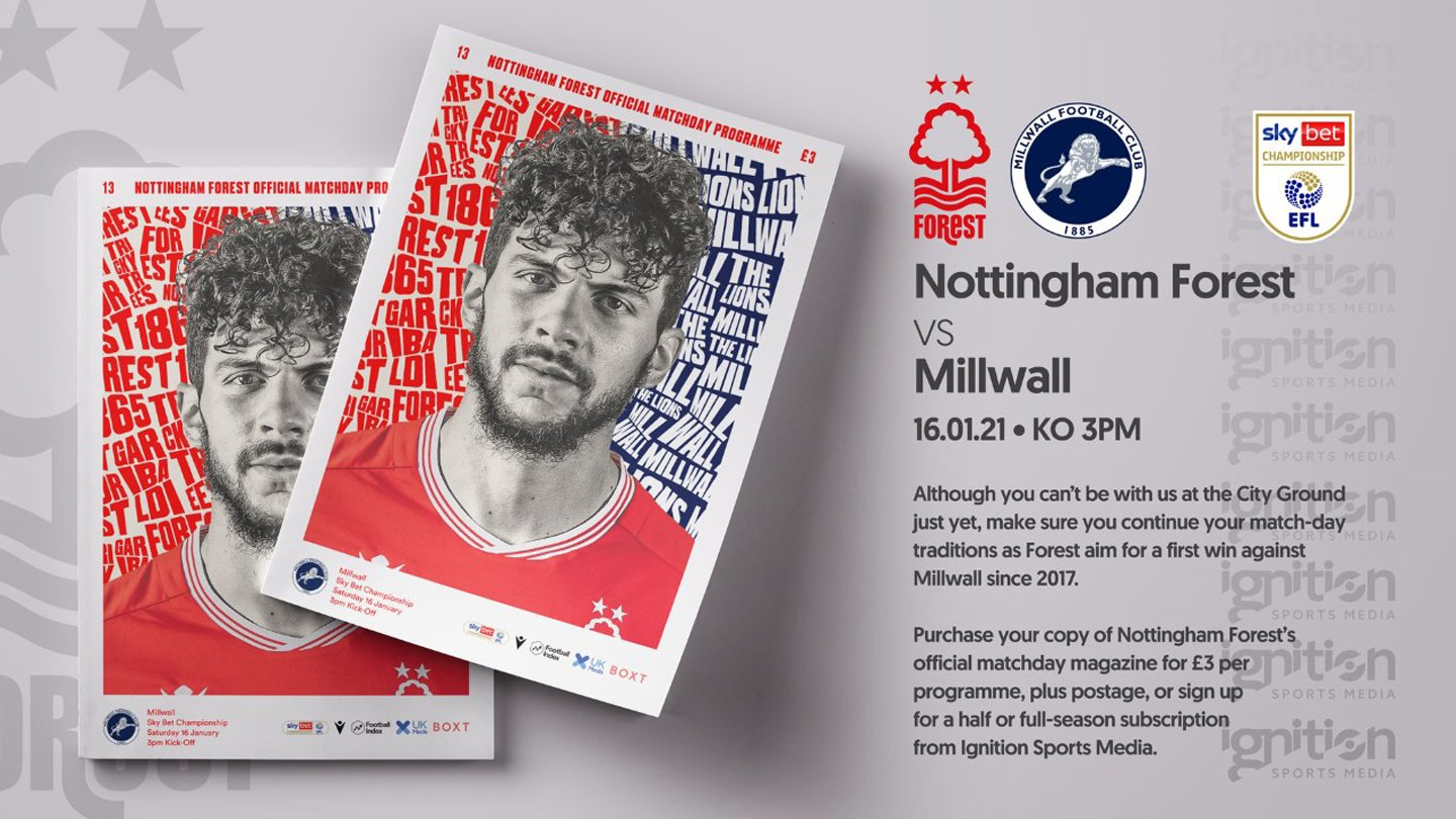 Order your programme for Millwall clash!