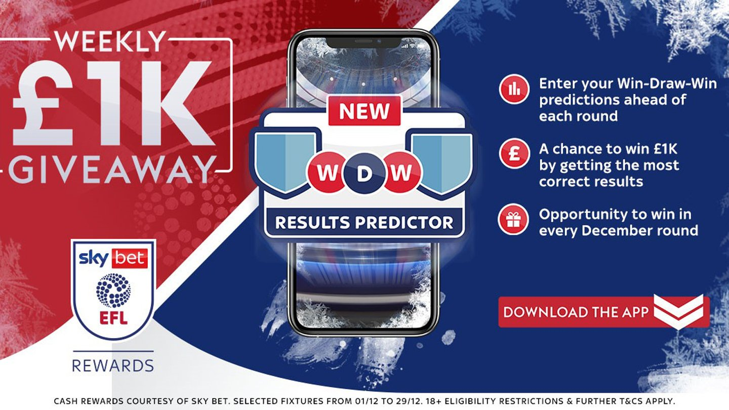 £1,000 to be won this weekend with Sky Bet EFL Rewards