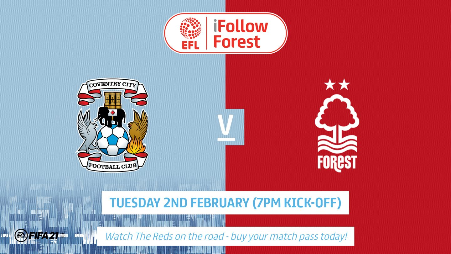 Watch Coventry vs Forest live on iFollow!