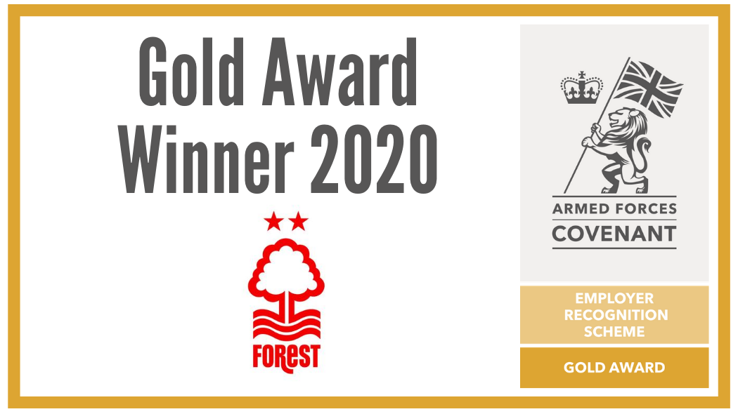 Nottingham Forest Community Trust awarded with Ministry of Defence ERS Gold award