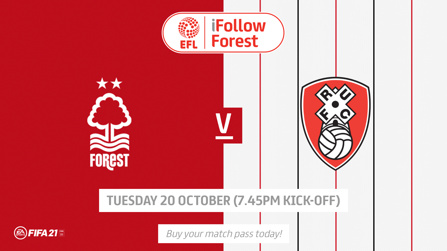Watch Forest vs Rotherham live on iFollow!