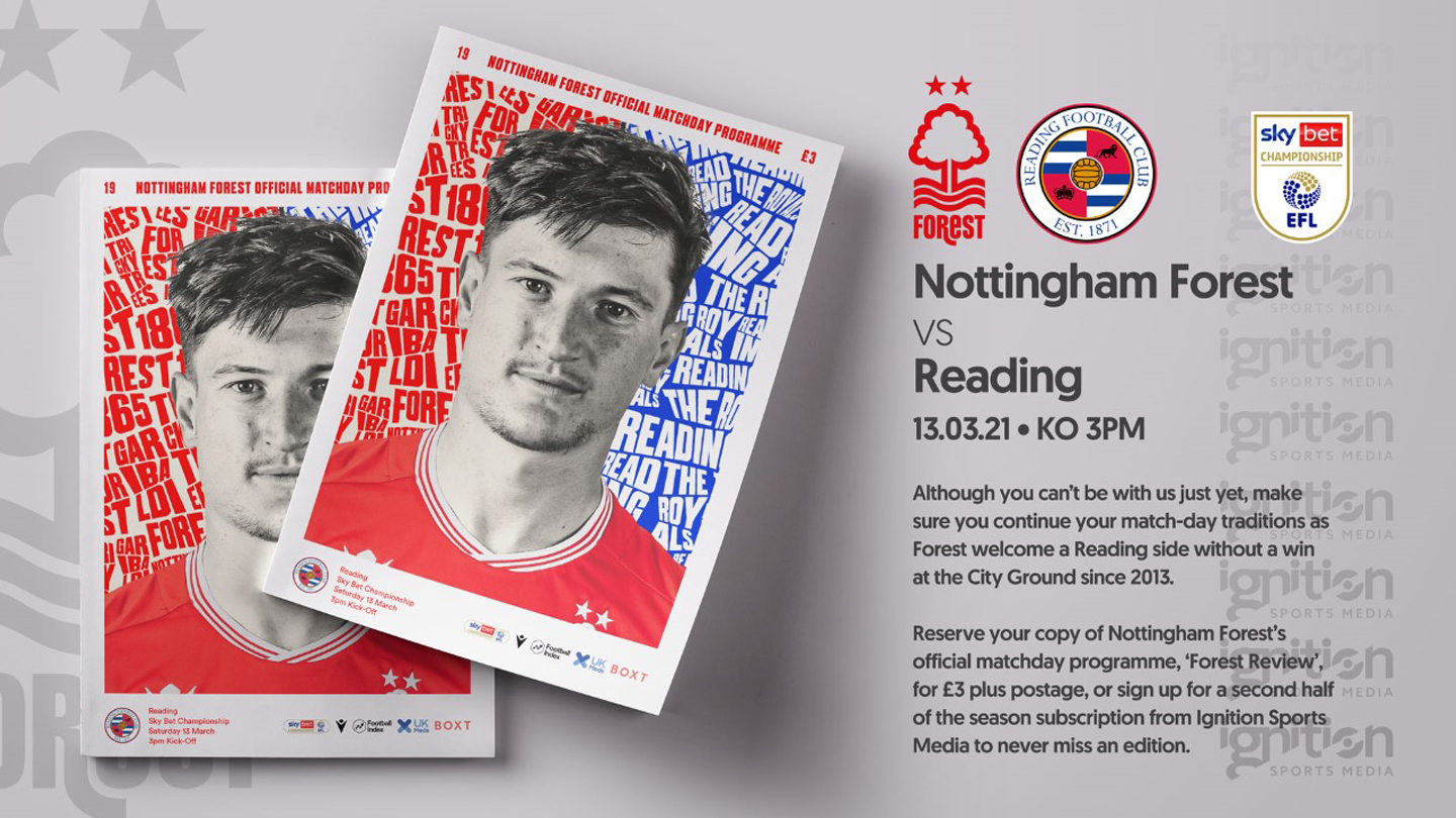Order your programme for Reading clash!