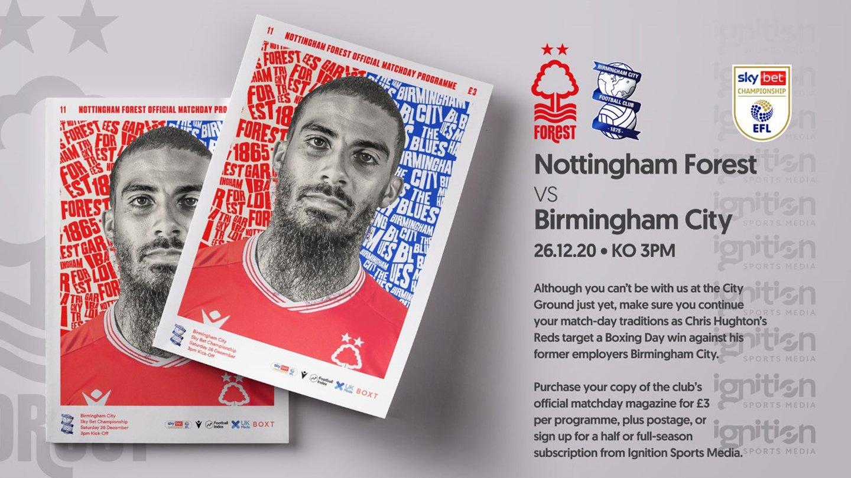 Order your programme for Birmingham clash!