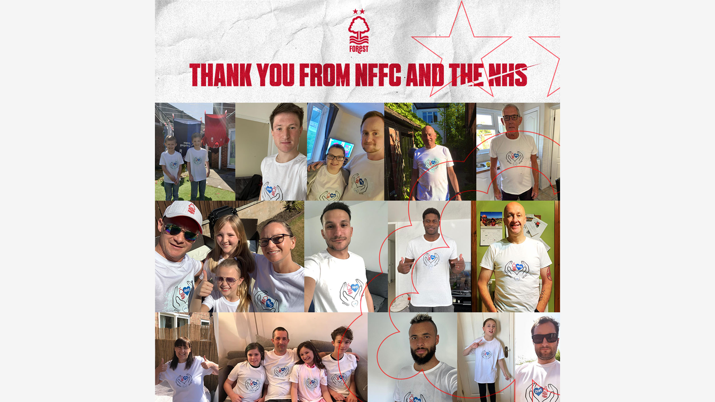 Nottingham Forest fans help donate £18,500 for the local NHS
