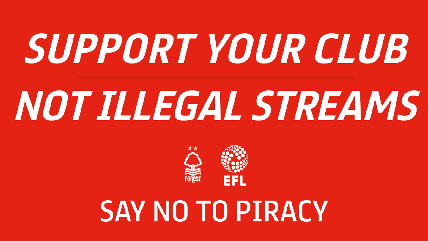Forest support EFL's anti-piracy campaign